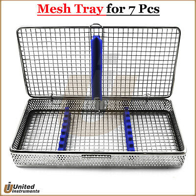 Dental Instruments Mesh Cassette Surgical Scalers Tray Box Rack Stainless Steel