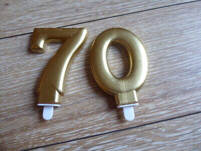 """Candles - Gold - """"70"""""""