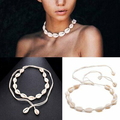 Women Retro Boho Beach Sea Shell Cowrie Pendant Choker Necklace Jewelry Gift AU