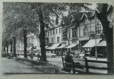 Sutton Coldfield The Parade Shops  Birmingham Rp Postcard