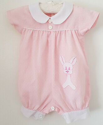VINTAGE 1980's 'TARGET' BABY GIRL'S PINK & WHITE ROMPER - SIZE 00