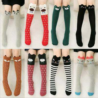 Cute Baby Kids Girls Knee High Socks Tights Leg Warmer Stockings For Age 3-12