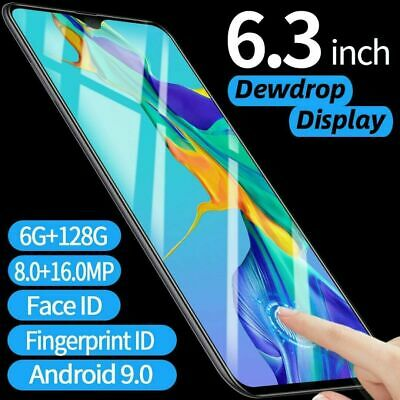 "6.3"" P36 Pro Android Smartphone Face Fingerprint Recognition Mobile Phone 6+128g"
