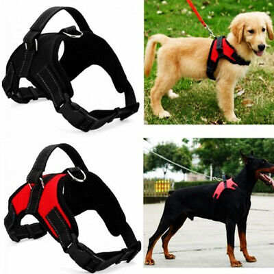 Saddle Shape No Pull Nylon Lead Walking Dog Vest Collar Chest Strap Pet Harness