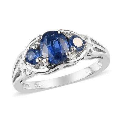 Solitaire Ring 925 Sterling Silver Oval Kyanite Jewelry for Women Size 6 Ct 2.3