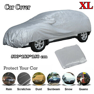 Universal Full Car Cover Scratches Dust Protection Large Size XL wt