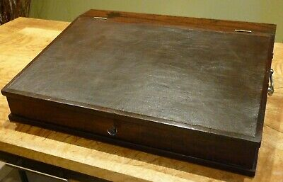 Victorian Clerk's Writing Slope. Mahogany. VGC.