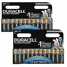 Genuine 24 Pack Duracell Aa Ultra Power Alkaline Batteries With Long Power Test