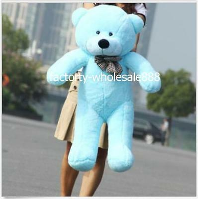 "32''/80cm Giant Cute Plush ""Blue"" Teddy Bear Huge Soft Toys Gifts 100% PP Cotton"