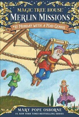 Magic Tree House Merlin Mission #10 Monday with a Mad Genius 9780375837302
