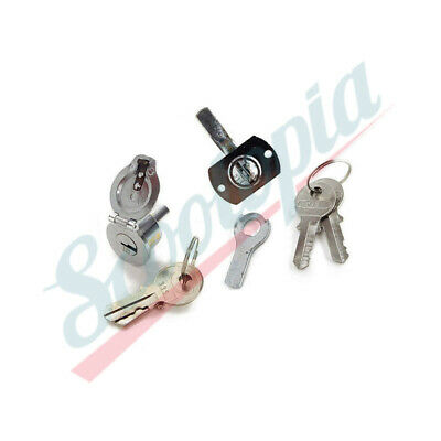 Scootopia Lambretta Black GP C.A.M.A Toolbox Lock /& Keys B12.3