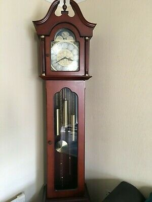 Grandfather clock full working order keeps good time clean condition