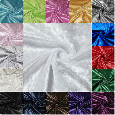 Premium Crushed Velvet Dress Fabric Stretch Velour Craft  25cm Bundle 150cm Wide