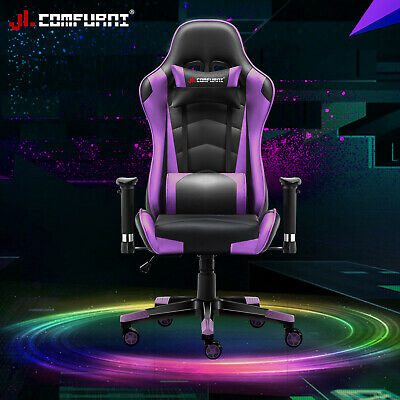 Executive Racing Gaming Home Office Chair Adjustable Swivel Recliner Leather