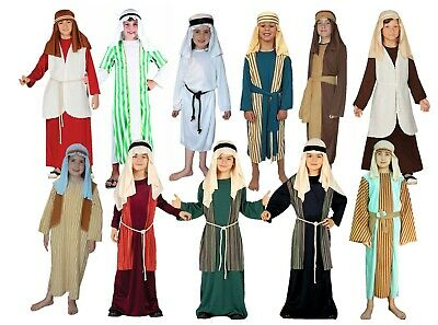 Child Shepherd Fancy Dress Costume Christmas Joseph Innkeeper Nativity Kids