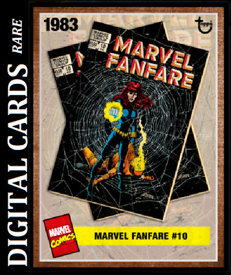 Topps Marvel Collect Card Trader Archives Fanfare #10 Black Widow