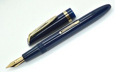 SUPERB Waterman L5 Royal Blue fountain pen; 14K; AWESOME AND SMOOTH NIB #5.
