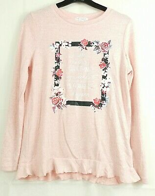 EX Store Girls  Pink  Long Sleeve  Knitted Crew Neck Top -Primark