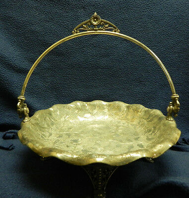 Victorian Estate Rare 1890's James W Tufts Silver Plated Footed Bridal Basket