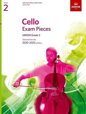 Grade 2 CELLO EXAM PIECES 2020-23 ABRSM  Music Book  cello part and piano score