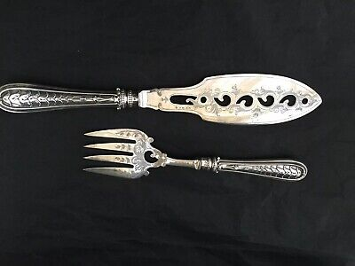 Victorian Silver Plated Fish Servers