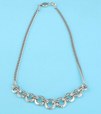 China 925 Silver Hand-Carved Lady Necklace Auspicious Gift High-End Collec Old