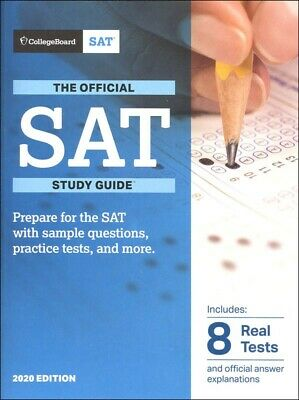 Official SAT Study Guide 2020 Edition by The College Board Paperback NEW