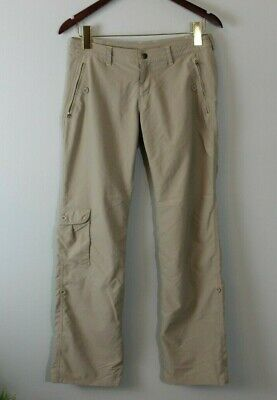 Patagonia Womens Byway Hiking Roll Up Convertible Pants Khaki Driftwood Size 4