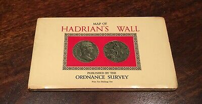 1964 Vintage Ordnance Survey Archaeological Map of Hadrian's Wall Roman