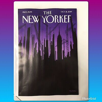THE NEW YORKER MAGAZINE October 21, 2019 Brand NEW Free Shipping