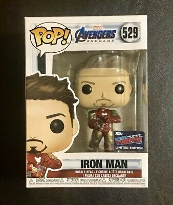 NYCC 2019 FUNKO POP! AVENGERS ENDGAME TONY STARK IRON MAN w/ GAUNTLET *IN HAND*