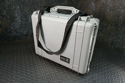 Pelican 1550 Field Monitor Grey Hard Case With Carrying Strap