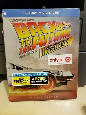 Back to the Future: 30th Anniversary Trilogy (Blu-ray Disc, 2015, TARGET ONLY)