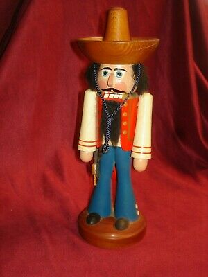Vintage German Nutcracker Hergestellt In Ddr Cowboy Mexican 11""