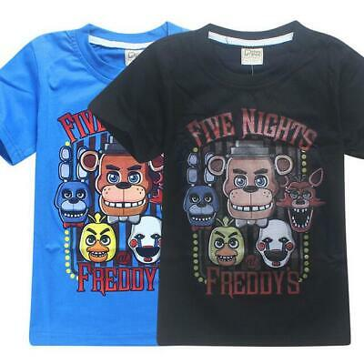 FNAF Five Nights at Freddys Kids Boys Girls Loose Sleeved T-Shirt Short Top New