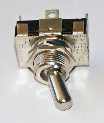 Gaynor Toggle Switch Single Pole Double Throw Solder Tab 6 Amp @125 VAC  #7101D