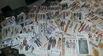 Lot 100+ Vintage Sewing Patterns 60s thru 90s Vogue Butterick McCalls Simplicity