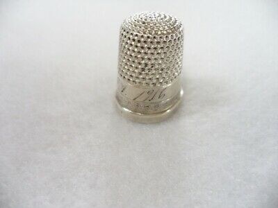 Antique Sterling Monogramed 1916 Thimble
