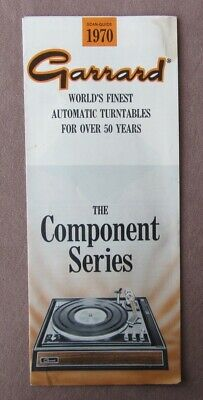 Vtg 1969 Garrard Turntables The Component Series Guide Synchro-Lab Automatic