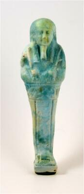 Egypt Late period 26-30th dynasty large blue faience shabti