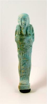Egypt Late period 26-30th dynasty blue faience shabti