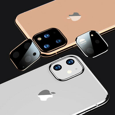 For iPhone 11 Pro Max 11 Luxury Camera Lens Tempered Glass Protector Slim Cover