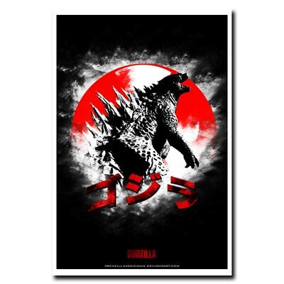 Godzilla 12x18/24x36inch Classic Monster Horror Movie Silk Poster Wall Decals