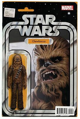 Star Wars #4 Christopher Chewbacca Action Figure Variant Comic Book 2015 Marvel