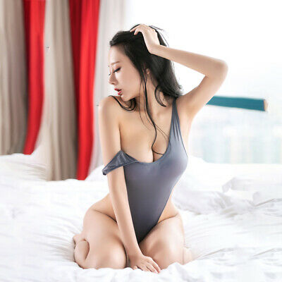 Ultra Thin Shiny Bodysuit Women Sheer Nightwear Sexy Bikini Bodystockings