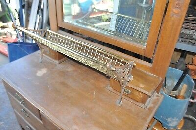 Vintage Brass NSW Railway Storage Rack