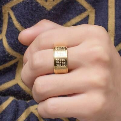 Heart Sutra Six-character True Word Rotating Ring Sanskrit Ne Ring Mantra D T2Z4