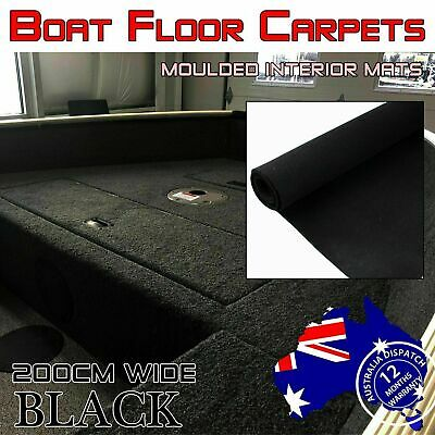 3.6M x 2M All Black Marine BASS BOAT Carpet Rugs Replacement Non-Slip Materials