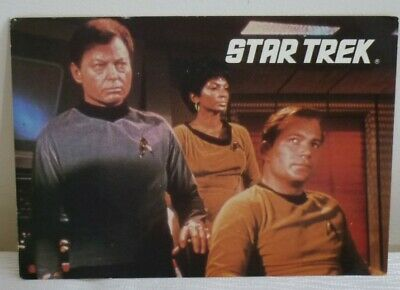 VINTAGE POSTCARD - STAR TREK - THE BRIDGE - COLOUR -  Unused