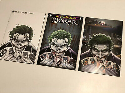The Joker YEAR OF THE VILLAIN #1 Variant Rare Exclusive Ryan Kincaid Set Of 3